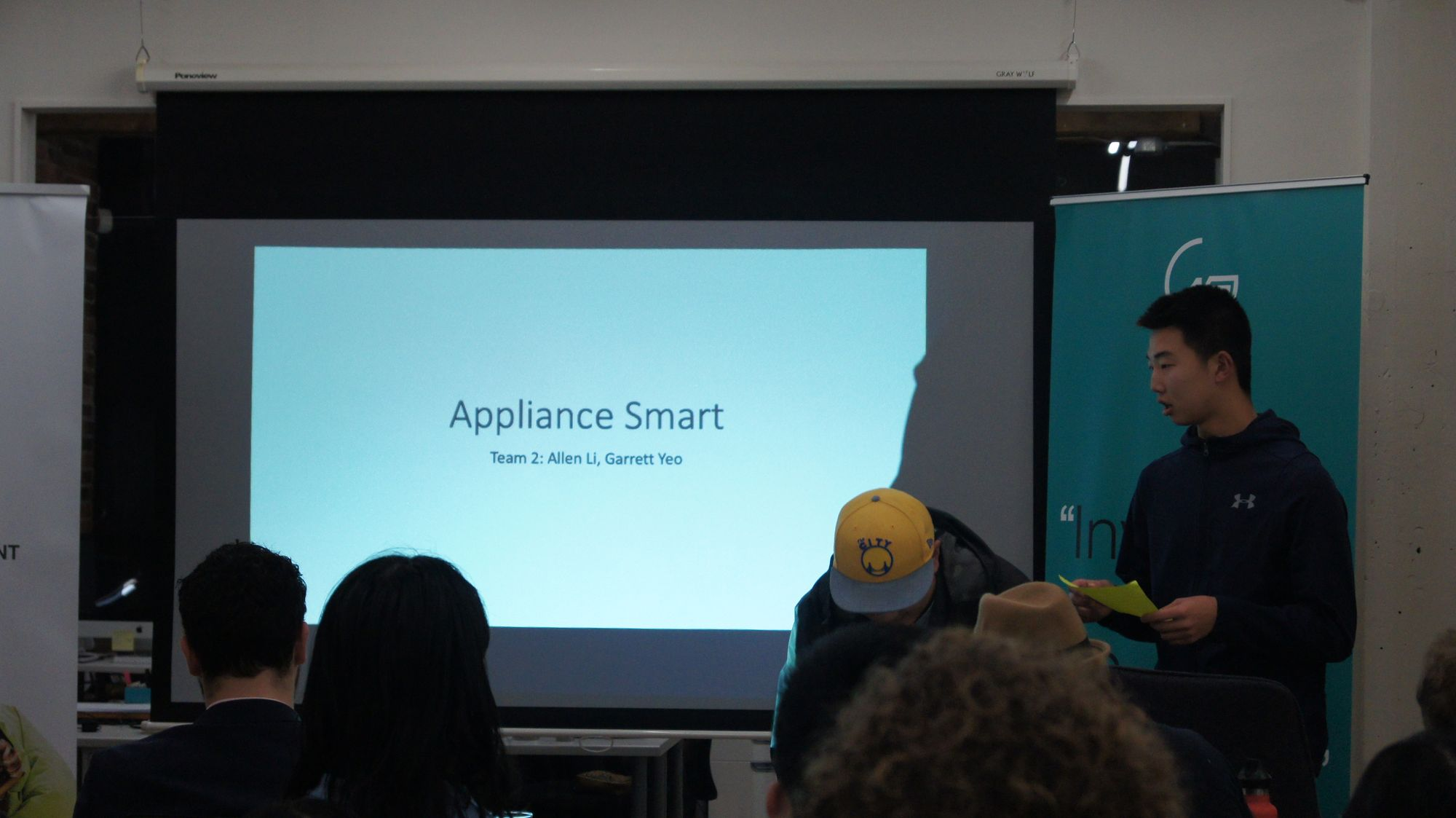 It's Team 2's turn to introduce Appliance Smart.
